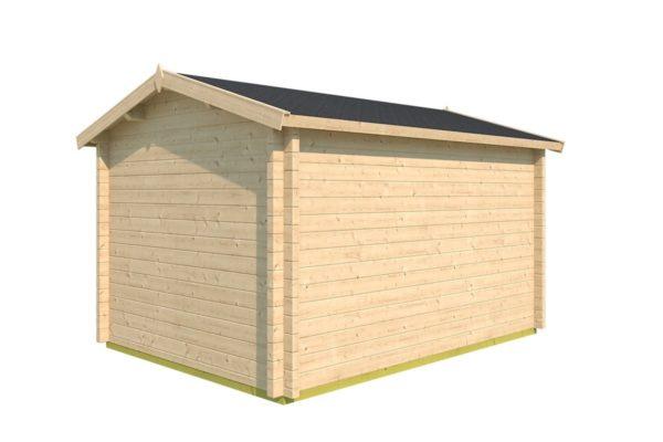 Simple garden cabin NARVIC 70 B | 4.3 x 3.2 m (13'10'' x 10'5'') 70 mm 4