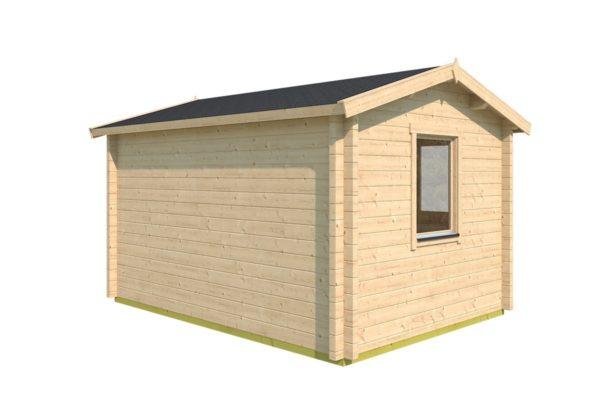 Simple garden cabin NARVIC 70 B | 4.3 x 3.2 m (13'10'' x 10'5'') 70 mm 5