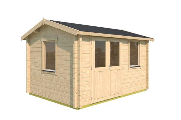 Simple garden cabin NARVIC 70 B | 4.3 x 3.2 m (13'10'' x 10'5'') 70 mm 6