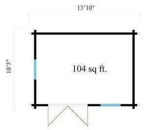 Simple garden cabin NARVIC 70 B | 4.3 x 3.2 m (13'10'' x 10'5'') 70 mm 9