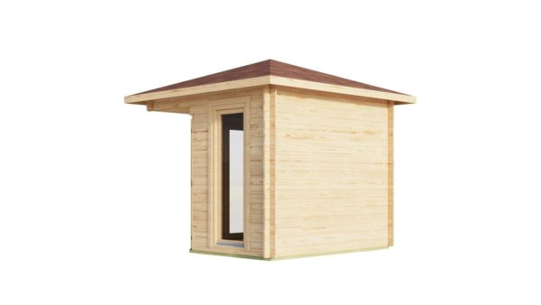 Stylish corner garden shed NELLY 28 D | 3.4 x 3.4 m (11'1'' x 11'1'') 28 mm 4