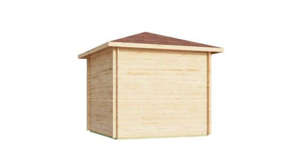 Stylish corner garden shed NELLY 28 D | 3.4 x 3.4 m (11'1'' x 11'1'') 28 mm 7