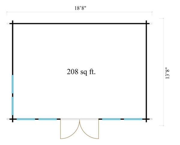 Classical garden room Clockhouse NEWCASTLE 70   5.7 x 4.2 m (18'8'' x 13'8'') 70 mm 7