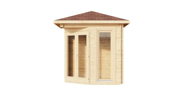 Simple corner garden shed NINA 28 D | 2.9 x 2.9 m (9'6'' x 9'6'') 28 mm 3