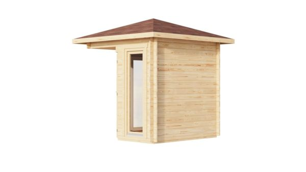 Simple corner garden shed NINA 28 D | 2.9 x 2.9 m (9'6'' x 9'6'') 28 mm 4