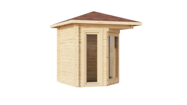 Simple corner garden shed NINA 28 D | 2.9 x 2.9 m (9'6'' x 9'6'') 28 mm 7