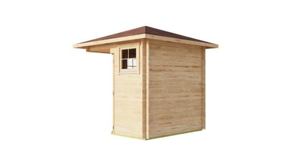 Basic corner shed NINA 44 C | 2.9 x 2.9 m (9'6'' x 9'6'') 44 mm 4