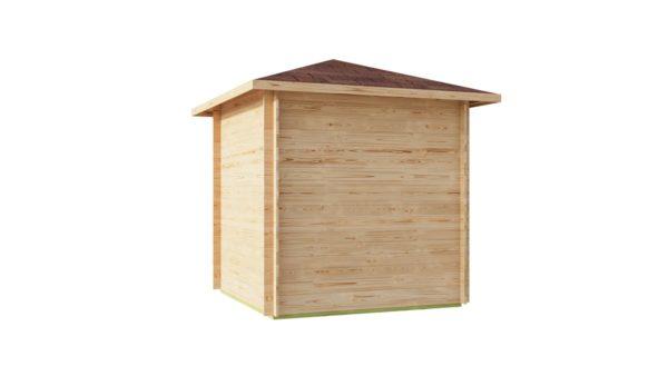 Basic corner shed NINA 44 C | 2.9 x 2.9 m (9'6'' x 9'6'') 44 mm 6