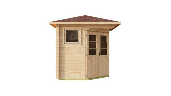 Basic corner shed NINA 44 C | 2.9 x 2.9 m (9'6'' x 9'6'') 44 mm 8
