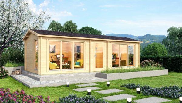 Garden office building OFFICE HOUSE 70 | 9.2 x 4 m (30'1'' x 13'2'') 70 mm 1