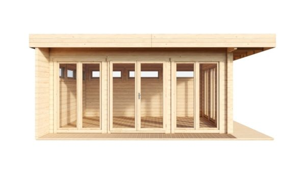 Contemporary wooden cabin MELANY 44 | 6 m x 6 m (19'8'' x 19'8'') 44mm 2