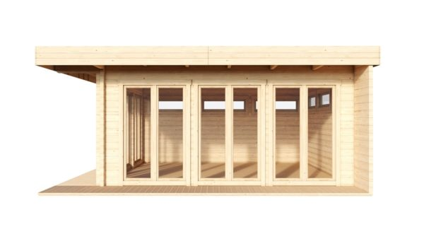 Contemporary wooden cabin MELANY 44 | 6 m x 6 m (19'8'' x 19'8'') 44mm 3