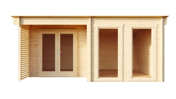 Wooden home office MARIANNE 44 | 5.6 m x 4.2 m (18'4'' x 13'9'') 44 mm 5
