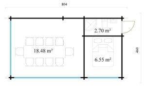 Outdoor Kitchen Lounge MAREK 70 | 8 x 4.6 m (26'5'' x 15'1'') 70 mm 15