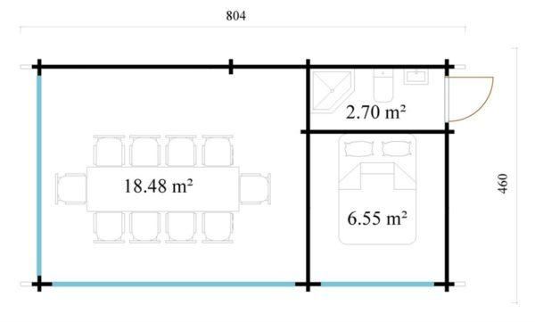 Outdoor Kitchen Lounge MAREK 70 | 8 x 4.6 m (26'5'' x 15'1'') 70 mm 8