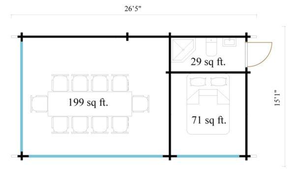 Outdoor Kitchen Lounge MAREK 70 | 8 x 4.6 m (26'5'' x 15'1'') 70 mm 10