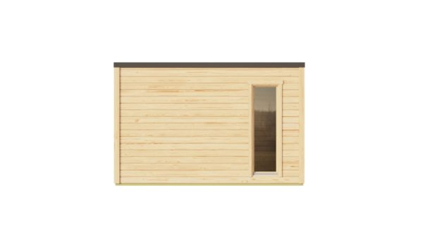 A simple modern wooden garden room Q-BIC 44 A | 3.9 x 3.9 m (12'7'' x 12'7'') 44 mm 3