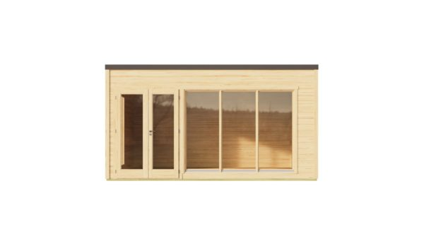 Modern garden room with simple design Q-BIC 44 B | 4.6 x 4.8 m (14'11'' x 15'9'') 44 mm 4