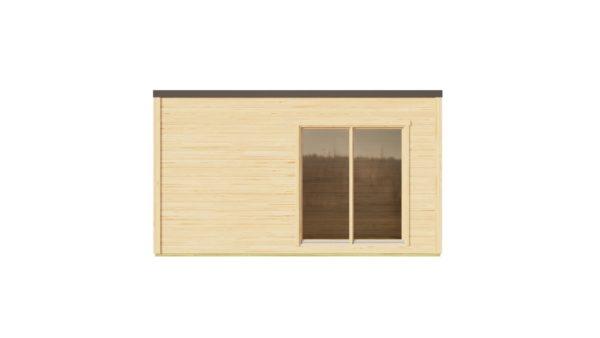 Modern garden room with simple design Q-BIC 44 B | 4.6 x 4.8 m (14'11'' x 15'9'') 44 mm 3
