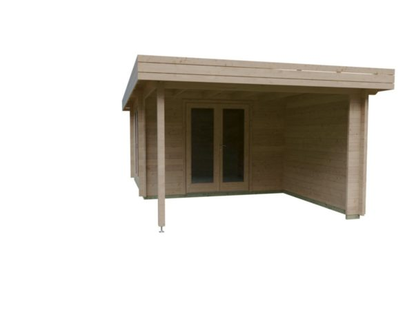 Garden room with side canopy RANJA 44 | 6.8 x 4.1 m (22'4'' x 13'3'') 44 mm 4