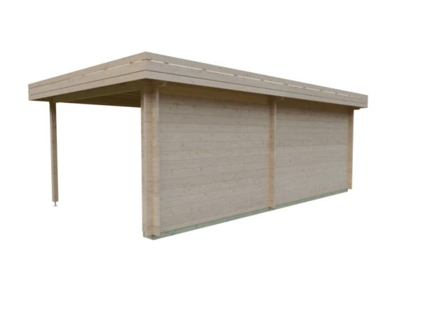 Garden room with side canopy RANJA 44 | 6.8 x 4.1 m (22'4'' x 13'3'') 44 mm 5