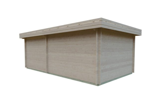 Garden room with side canopy RANJA 44 | 6.8 x 4.1 m (22'4'' x 13'3'') 44 mm 6