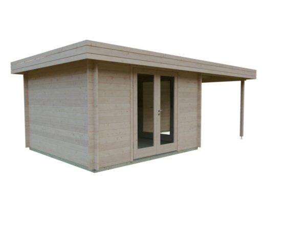 Garden room with side canopy RANJA 44 | 6.8 x 4.1 m (22'4'' x 13'3'') 44 mm 7