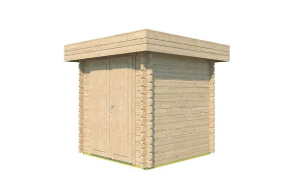 Practical garden shed ROB 44 A   2.6 x 2.6 m (8'5'' x 8'5'') 44 mm 2