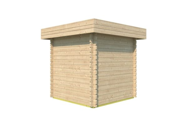 Practical garden shed ROB 44 A   2.6 x 2.6 m (8'5'' x 8'5'') 44 mm 3