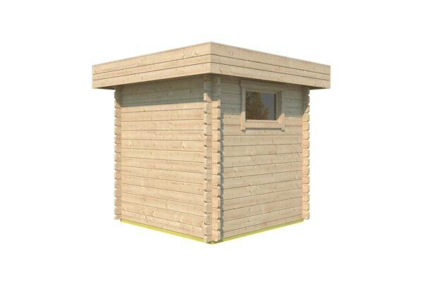 Practical garden shed ROB 44 A   2.6 x 2.6 m (8'5'' x 8'5'') 44 mm 4