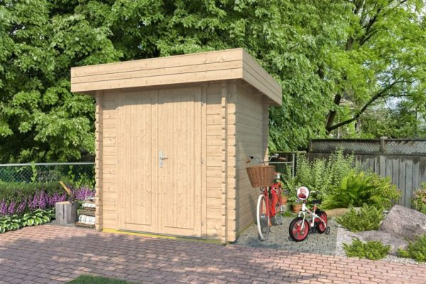 Practical garden shed ROB 44 A   2.6 x 2.6 m (8'5'' x 8'5'') 44 mm 1
