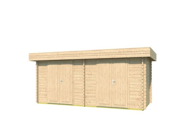 Double garden shed ROB 44 B | 5.6 x 2.6 m (18'3'' x 8'5'') 44 mm 2