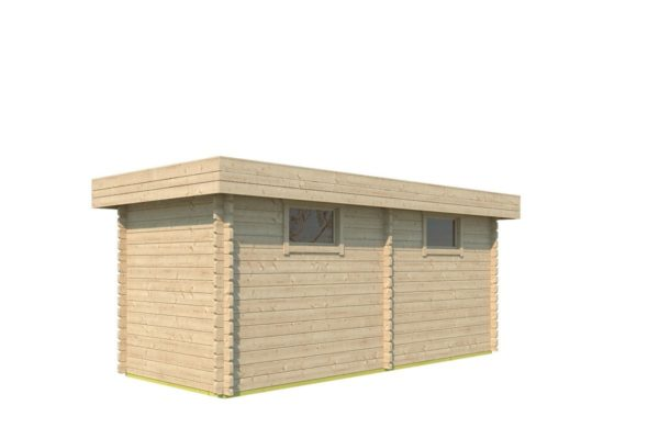 Double garden shed ROB 44 B | 5.6 x 2.6 m (18'3'' x 8'5'') 44 mm 3