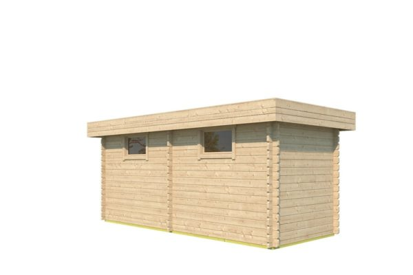 Double garden shed ROB 44 B | 5.6 x 2.6 m (18'3'' x 8'5'') 44 mm 4