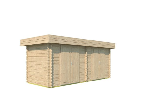 Double garden shed ROB 44 B | 5.6 x 2.6 m (18'3'' x 8'5'') 44 mm 5
