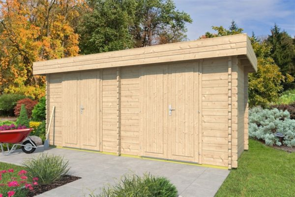 Double garden shed ROB 44 B | 5.6 x 2.6 m (18'3'' x 8'5'') 44 mm 1