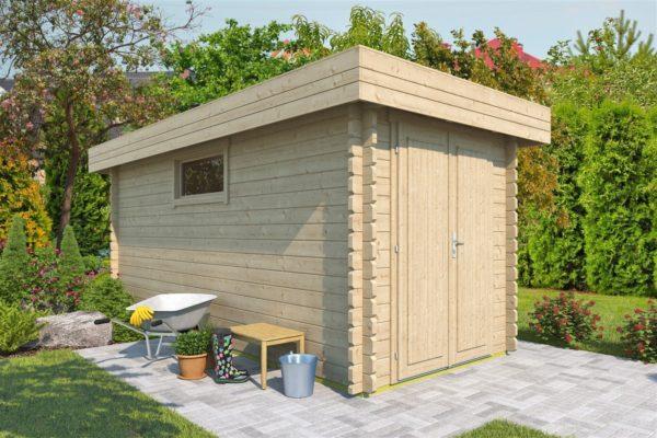 Spacious garden shed ROB 44 C | 5.6 x 2.6 m (18'3'' x 8'5'') 44 mm 1