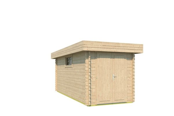 Spacious garden shed ROB 44 C | 5.6 x 2.6 m (18'3'' x 8'5'') 44 mm 2