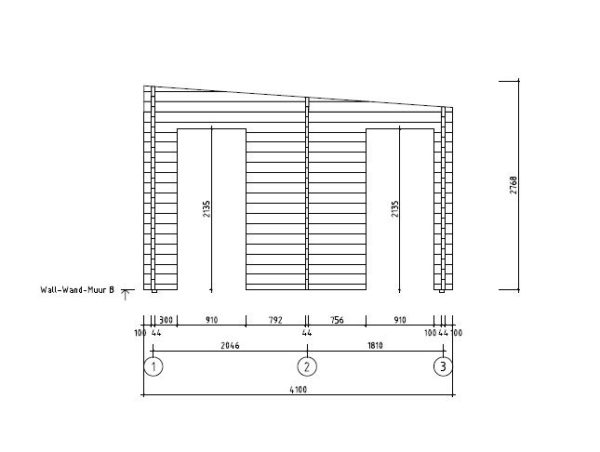Wooden garden house with 3 rooms ROSE 70 | 6.3 m x 4.1 m (20'7'' x 13'5'') 70 mm 13