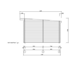 Wooden garden house with 3 rooms ROSE 70 | 6.3 m x 4.1 m (20'7'' x 13'5'') 70 mm 24