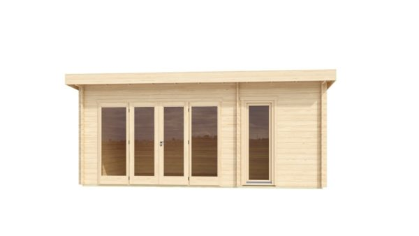 Wooden garden house with 3 rooms ROSE 70 | 6.3 m x 4.1 m (20'7'' x 13'5'') 70 mm 2