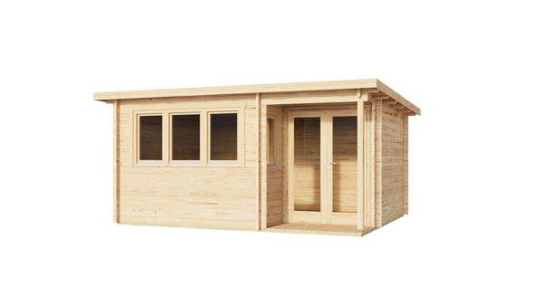 Double door garden office SAM 44 | 5.4 x 4.4 m (17'9'' x 14'5'') 44 mm 2