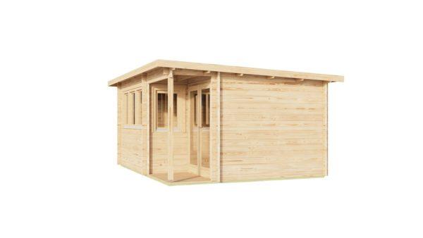 Double door garden office SAM 44 | 5.4 x 4.4 m (17'9'' x 14'5'') 44 mm 3