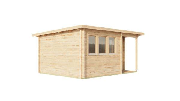 Double door garden office SAM 44 | 5.4 x 4.4 m (17'9'' x 14'5'') 44 mm 5