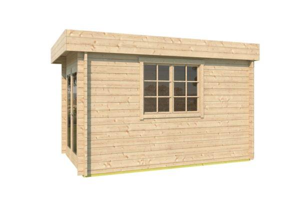 Wooden garden shed STEVE 44 | 2.5 x 3.5 m (8' x 11'4'') 44 mm 4
