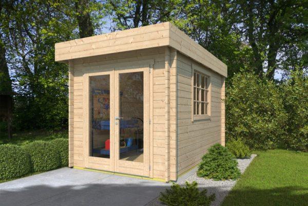 Wooden garden shed STEVE 44 | 2.5 x 3.5 m (8' x 11'4'') 44 mm 1