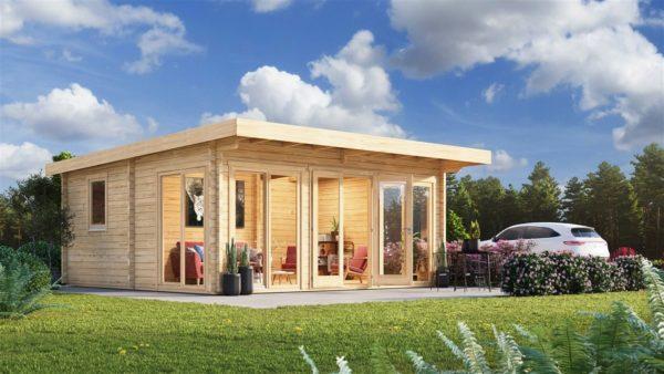 Three-room garden annexe TAUNUS 70 | 7 x 6.3 m (22'7'' x 20'8'') 70 mm 1