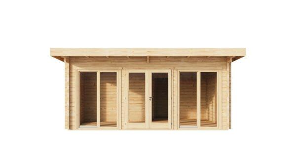 Three-room garden annexe TAUNUS 70 | 7 x 6.3 m (22'7'' x 20'8'') 70 mm 2