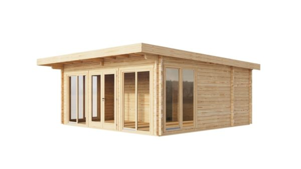 Three-room garden annexe TAUNUS 70 | 7 x 6.3 m (22'7'' x 20'8'') 70 mm 3