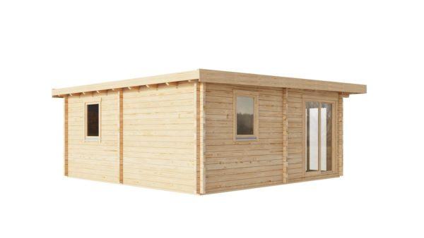 Three-room garden annexe TAUNUS 70 | 7 x 6.3 m (22'7'' x 20'8'') 70 mm 6